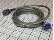 USED Amphenol 126 Series 5-Pin M/F Connectors & 5-Ft Cable