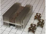 """USED Heat Sink Aluminum 6-1/2"""" x 4"""" x 2"""" For TO-3 Transistiors"""