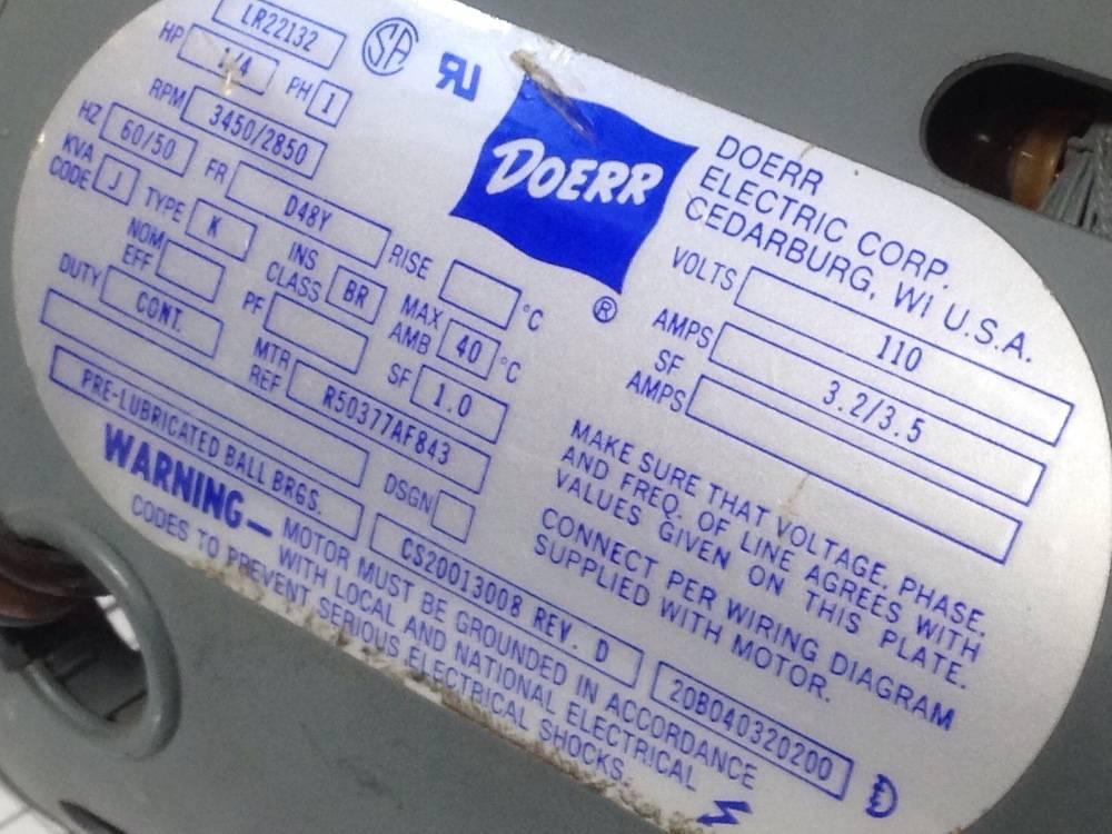 Used Electrical Motor Doerr Lr22132