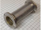 """USED 3"""" Bellows Flex Pipe Tubing Huntington Stainless Steel"""