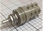USED Rotary Switch Janco 1-1957-3B6SC 115V 28VDC 6 Positions 3 Decks