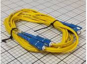 USED Fiber Optic Patch Cable OFNR Duplex A7091 SC-SC 3 Meter