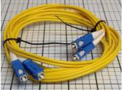 USED Fiber Optic Patch Cable Corning OFNR Duplex SC-SC 2 Meter