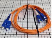USED Fiber Optic Patch Cable Optical Cable Corp. 50/125 SC-SC 1M