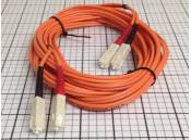 USED Fiber Optic Patch Cable Corning 62.5/125 Duplex SC-SC 5 Meter