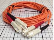 USED Fiber Optic Patch Cable Duplex Corning 62.5/125 SC-SC 3 Meter