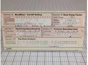 Vintage York Heating/Cooling Savings Analyzer Borg Warner Y82-5109
