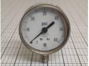 USED Pressure Gauge 60 PSI 316 Stainless Steel USG USA