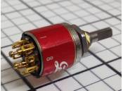 Rotary Switch Miniature Grayhill 2 Pole 4 Positions 45°