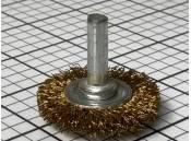 Wire Wheel 1-1/2 Inch - 1/4 Inch Shank Diameter