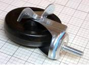 "Locking Swivel Caster 3/8"" Threaded Stem with 4"" Wheel"