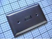 USED, 1-Switch Wall Plate, Steel, Pass & Seymour, $0.36